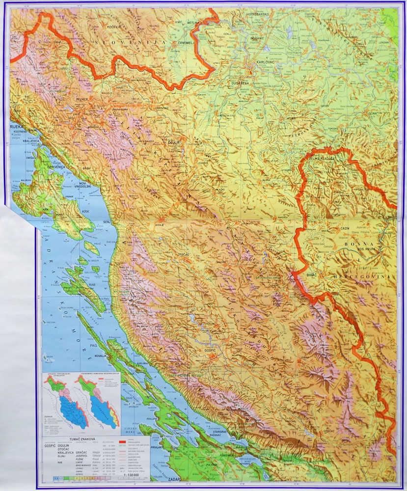 Gorska Hrvatska Hrvatska Skolska Kartografija