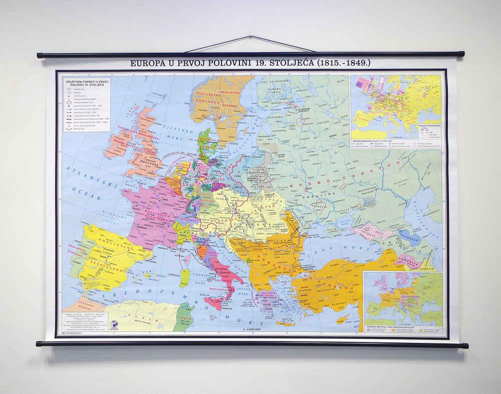 Karta Europa 1815.Europa U Prvoj Polovici 19 Stoljeca 1815 1849 Hrvatska