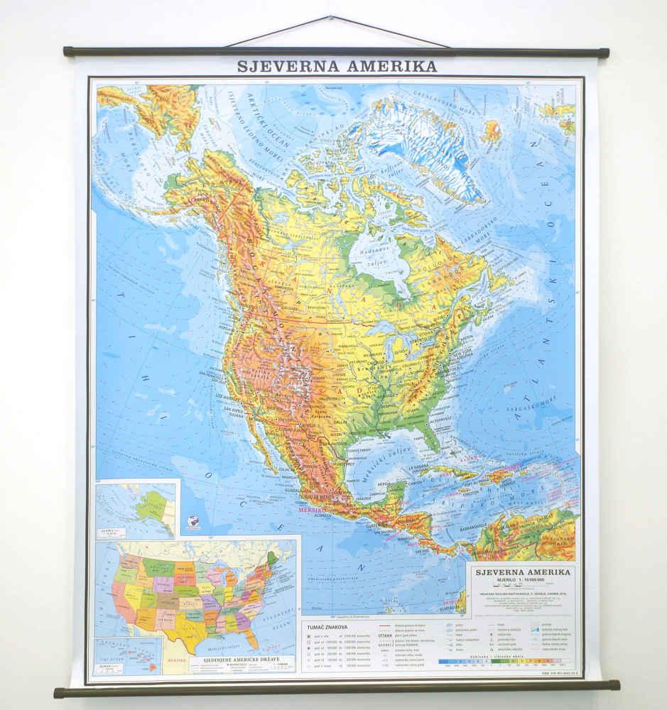 Sjeverna Amerika Hrvatska Skolska Kartografija