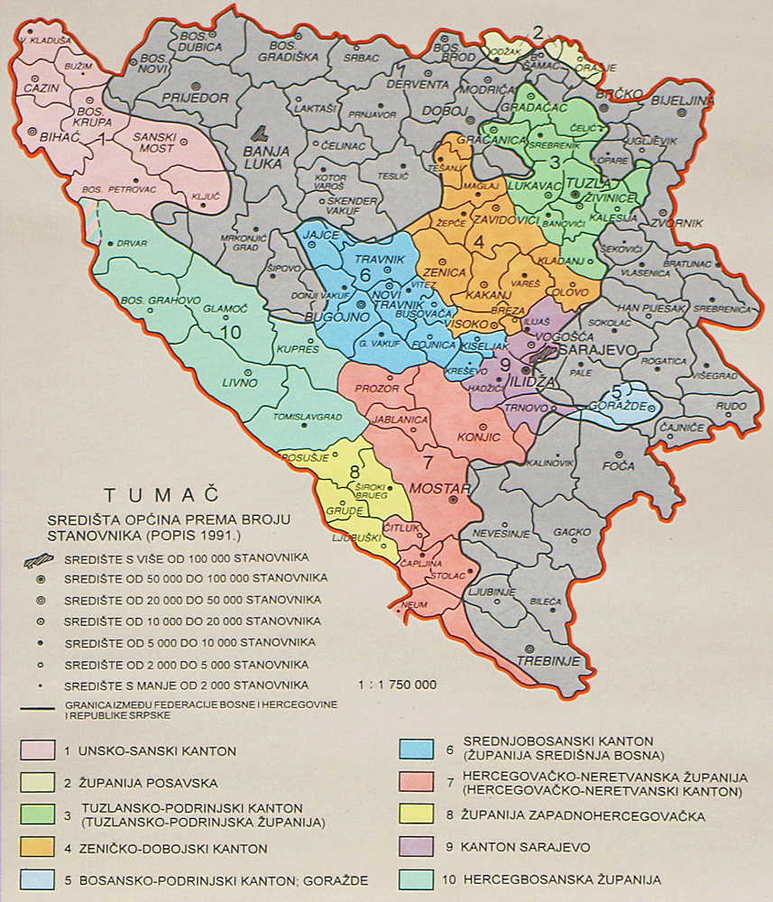 Bosna I Hercegovina Hrvatska Skolska Kartografija