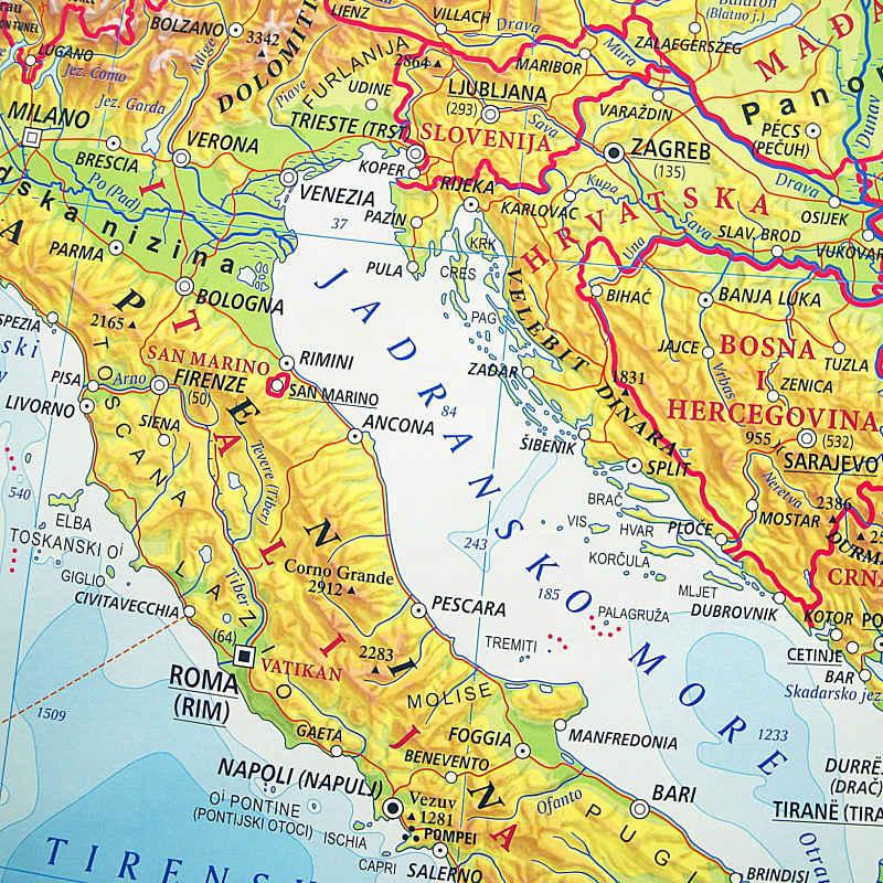 Europa Hrvatska Skolska Kartografija