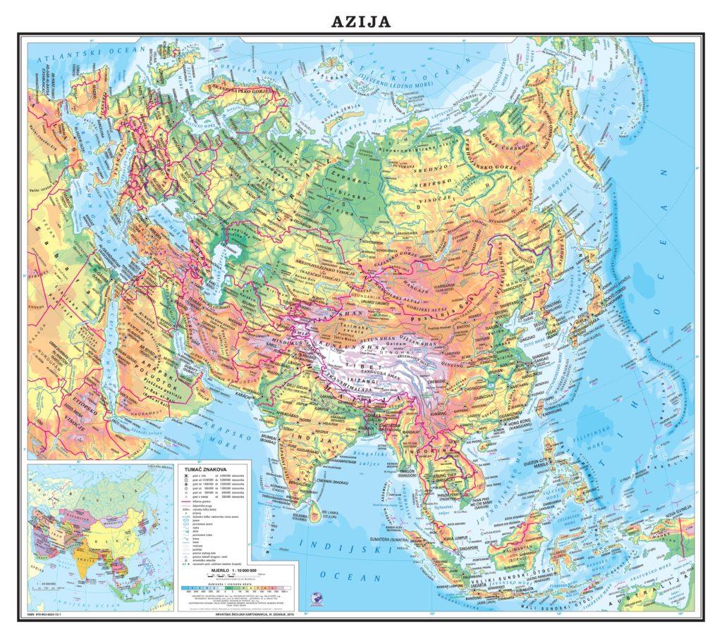 Azija Hrvatska Skolska Kartografija