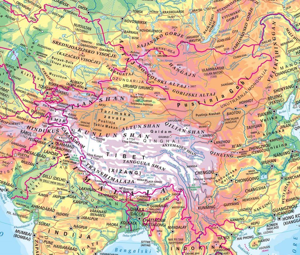 Karta Azije Zemljopisne Slagalice